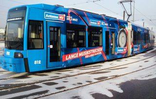 Straßenbahnbeschriftung